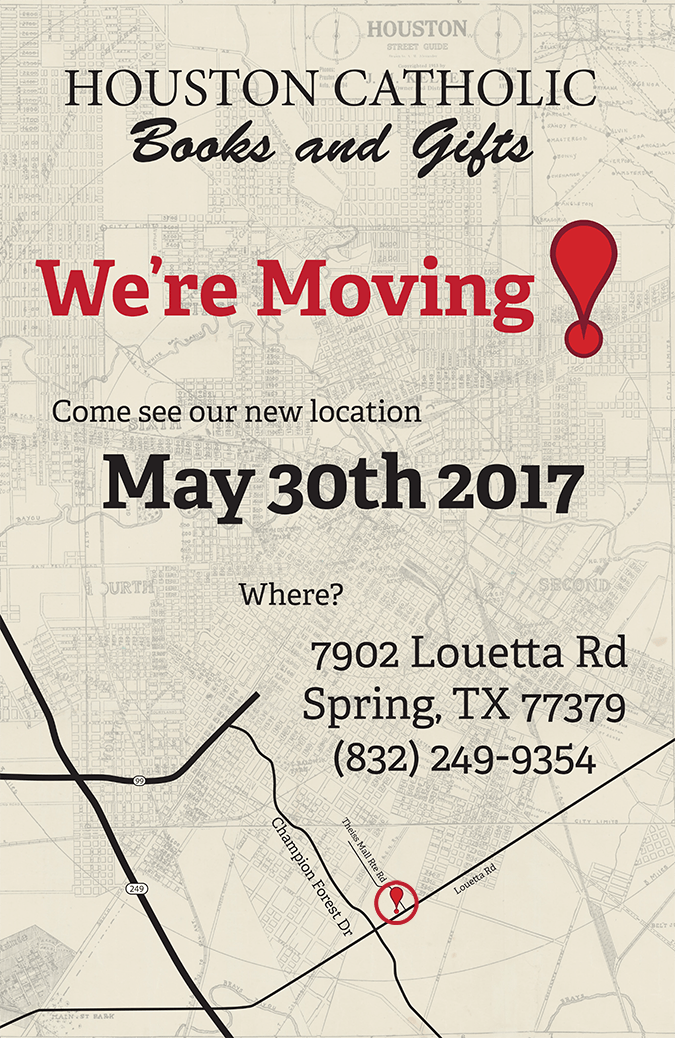 Houston Catholic Books and Gifts Moving Locations