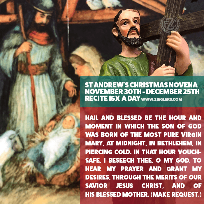 Start the New (Catholic)Year with St. Andrew\'s Christmas Novena- Nov ...