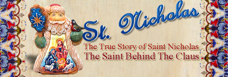 a description of the story behind saint nicholas of christmas More than 2000 churches in the old world bore the name of saint nicholas and his legend only grew as the centuries passed this is just the beginning of the story of santa claus.